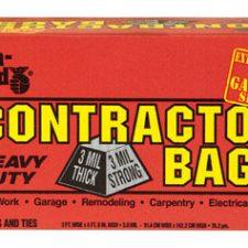 55 Gallon Iron Hold Contractor Trash Bag 3Mil 15pk