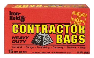 55 Gallon Iron Hold Contractor Trash