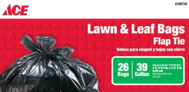 39 Gallon Lawn Bag .95Mil Black 26k
