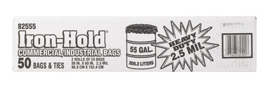 55 Gallon Commercial-Industrial Grade Drum Liner 2.5Mil Black 50pk