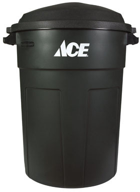 32 Gallon Refuse Can w/Lid Green
