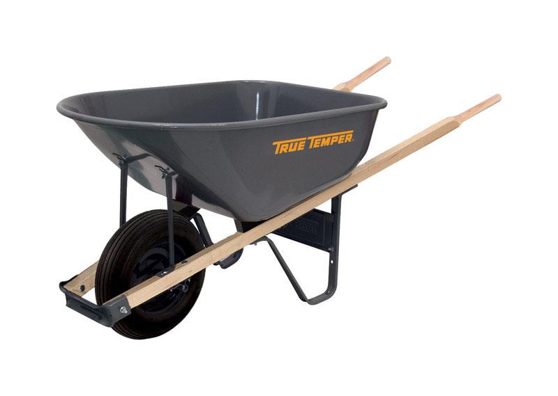 True Temper Steel Single Wheel Wheelbarrow