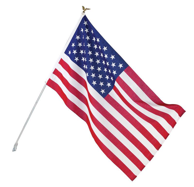 USA Flag Set 3ft. X 5ft. Polycotton