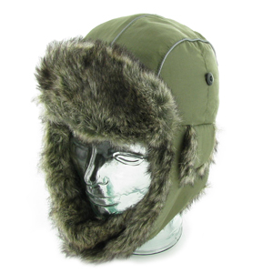 Trooper Faux Fur Taslon Trapper Hat. Assorted Colors