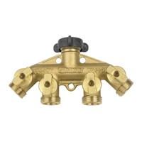 Hose Shut-Off 4-Way Brass