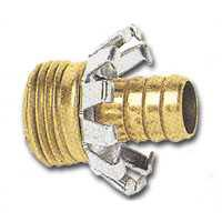 """3/4"""" Male Clinch Garden Hose Coupler Brass"""