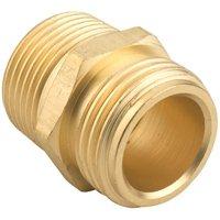 "3/4""MH x 3/4""MIP Garden Hose Connector Brass"