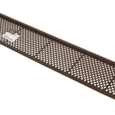 3ft Brown Snap-In Gutter Guard