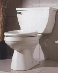 Gerber Viper Elongated Bowl 2pc 1 6gpf Toilet 10 Quot Rough In