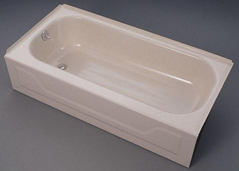 5ft Bootz Right Hand Drain Bathtub White Porcelain On Steel Left Pictured