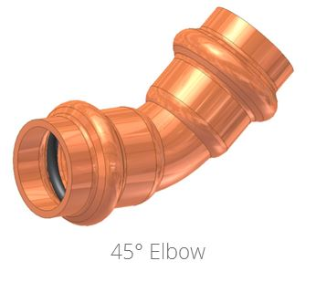 ApolloXpress 45 Degree Elbow