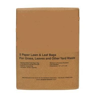 30 Gallon Paper Yard Waste Bags 5pk