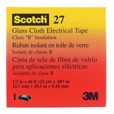 "Scotch 1/2"" x 66 ft. Rubber Glass Cloth Electrical Tape White"