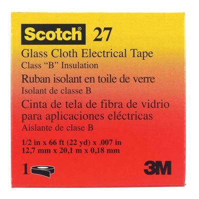 """Scotch 1/2"""" x 66 ft. Rubber Glass Cloth Electrical Tape White"""