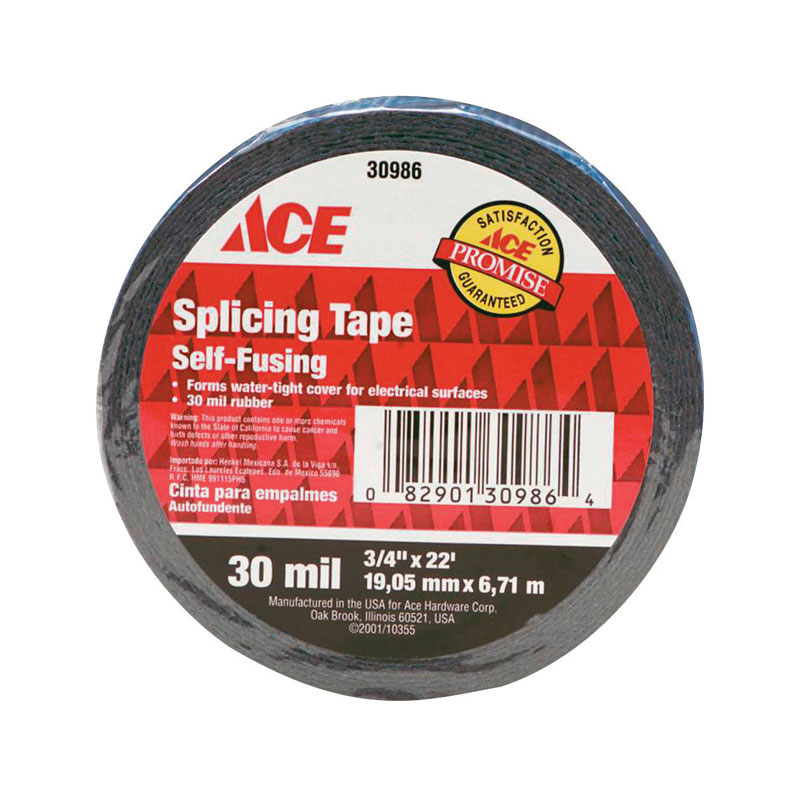 "3/4"" x 22 ft Rubber Splicing Tape Black"