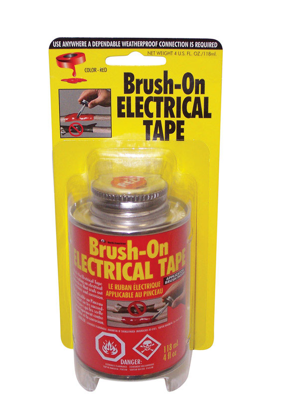 Blue Magic Liquid Brush-On Electrical Tape Red 4oz