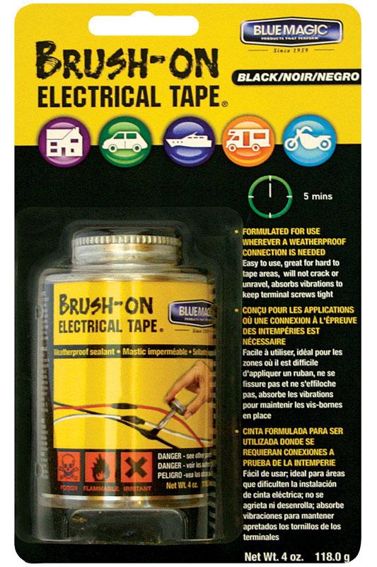Blue Magic Liquid Brush-On Electrical Tape Black 4oz