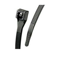 "8"" GB UV Black Standard Double Lock Cable Tie 100pk 46-308UVB"
