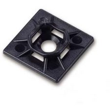 GB Mounting Cable Tie Base Black 5pk (White pictured)
