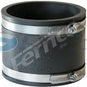 "5"" x 5"" CI/Plastic Fernco Flexible Coupling 1056-54"