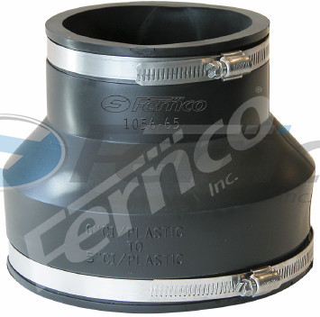 "6"" x 5"" CI/Plastic Fernco Flexible Coupling 1056-64"