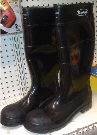 Black Steel Toe Boot Size 10