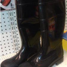 Black Steel Toe Boot Size 9