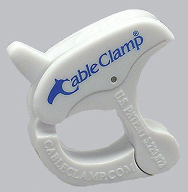 Adjustable Cable Clamp Small White