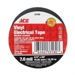 "3/4""  x 60 ft Viny Electrical Tape Black 10PK"