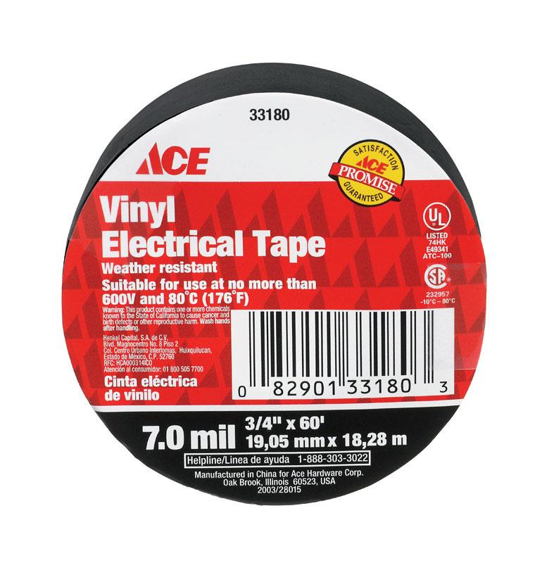 """3/4""""  x 60 ft Viny Electrical Tape Black 10PK"""